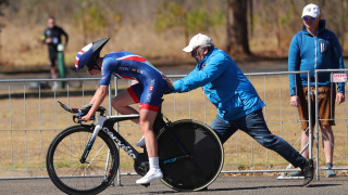Crystal Lane-Wright suffered a mechanical during her time trial effort at the UCI Para-cycling Road World Championships
