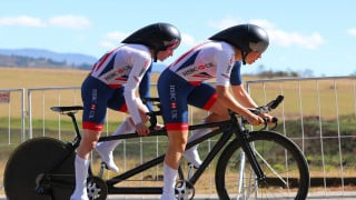 Great Britain Cycling Team's Lora Fachie and Corrine Hall win time trial silver at the UCI Para-cycling Road World Championships