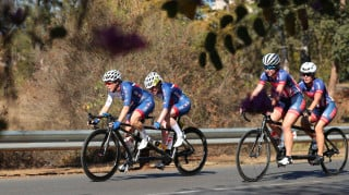 Great Britain Cycling Team's Lora Fachie and Corrine Hall finished seventh in the road race at UCI Para-cycling Road World Championships