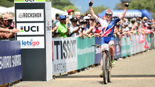 Great Britain Cycling Team's Annie Last wins silver at the 2017 UCI Mountain Bike World Championships