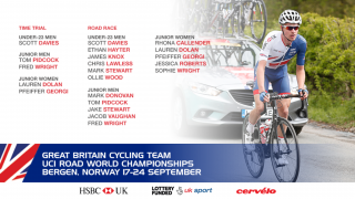 Great Britain Cycling Team for the under-23 men's, junior men's and junior women's road races and time trials at the 2017 UCI Road World Championships
