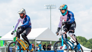 Great Britain Cycling Team's Tre Whyte finishes eighth in the final round of the UCI BMX Supercross World Cup while teammate Kyle Evans exits in the semi-finals