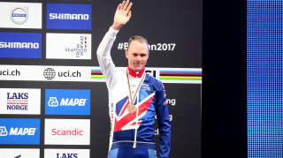 Great Britain Cycling Team's Chris Froome wins bronze in the time trial at the UCI Road World Championships