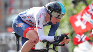 Great Britain Cycling Team's Tao Geoghegan Hart recovered from a crash to complete the time trial at the UCI Road World Championships