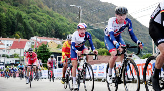Great Britain Cycling Team's Fred Wright and Jake Stewart