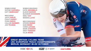 Great Britain Cycling Team for the 2017 UEC European Track Championships