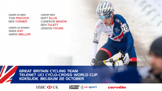 Great Britain Cycling Team for round one of the 2017/18 Telenet UCI Cyclo-cross World Cup