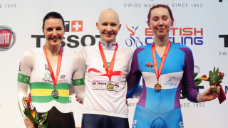 Katie Archibald wins individual pursuit bronze for Scotland at the 2013 UCI Track World Cup in Manchester as Joanna Rowsell Shand takes the gold for Great Britain Cycling Team