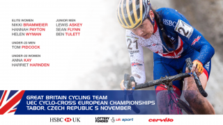 Great Britain Cycling Team for the UEC Cyclo-cross European Championships
