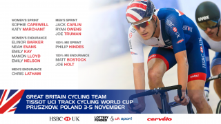 Great Britain Cycling Team for the Tissot UCI Track Cycling World Cup in Poland