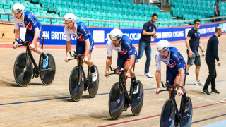 Great Britain Cycling Team's Andy Tennant, Kian Emadi, Ollie Wood and Mark Stewart