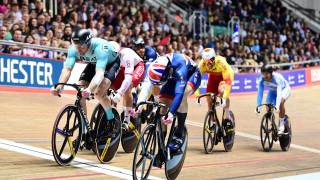 Great Britain Cycling Team's Joe Truman won both heats in the keirin on the way to sixth in the final at the Tissot UCI Track Cycling World Cup in Manchester