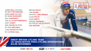 Great Britain Cycling Team for the UCI Manchester Para-cycling International