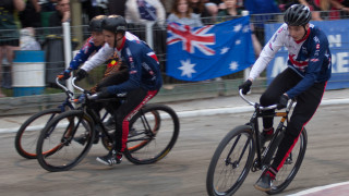 Great Britain Cycling Team juniors at the cycle speedway Ashes.