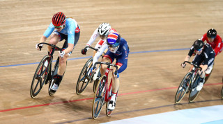Great Britain Cycling Team's Ellie Dickinson wins bronze in the omnium at the Tissot UCI Track Cycling World Cup in Canada