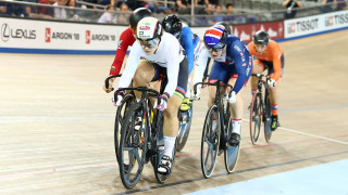 Great Britain Cycling Team's Katy Marchant wins silver in the keirin at the Tissot UCI Track Cycling World Cup in Milton, Canada