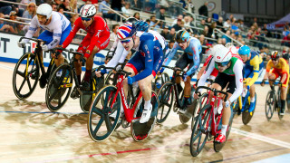 Great Britain Cycling Team's Ollie Wood wins silver in the omnium in the Tissot UCI Track Cycling World Cup in Milton, Canada