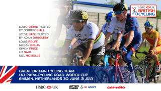 Great Britain Cycling Team for UCI Para-cycling Road World Cup in Emmen