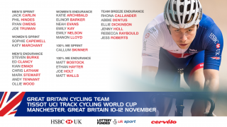 The teams for the track world cup in Manchester