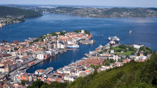 The men's time trial will finish on the mountain overlooking Bergen