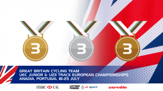 GB Cycling Team medal tally - day two - UEC Under-23 and Junior Track European Championships