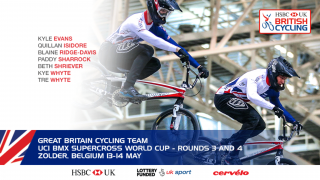 Great Britain Cycling Team for UCI BMX Supercross World Cup, Zolder