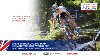 Great Britain Cycling Team for the UCI Mountain Bike World Cup in Lenzerheide