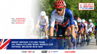 Great Britain Cycling Team for the UCI Para-cycling Road World Cup Ostend
