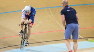 Joe Truman wins silver in the under-23 men's kilo in Anadia