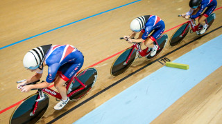 Man down, the women's team pursuit competed with just three riders in Anadia