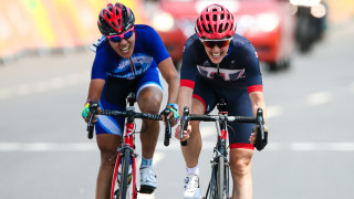 Crystal lane lines up for the Great Britain Cycling Team in Maniago