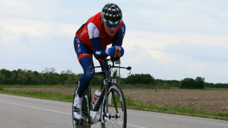 Simon Price rides for the Great Britain Cycling Team in Maniago