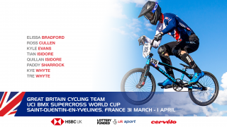 Great Britain Cycling Team for the UCI BMX Supercross World Cup in Saint-Quentin-en-Yvelines