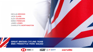 Great Britain Cycling Team BMX Freestyle Park squad