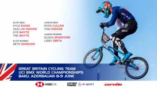 Great Britain Cycling Team for the 2018 BMX World Championships in Baku.