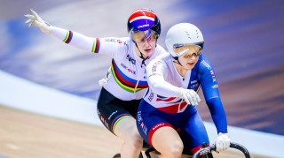 Great Britain Cycling Team's Sophie Thornhill and Helen Scott
