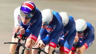 Charlie Tanfield and Ethan Hayter (pictured with Ed Clancy and Kian Emadi) to join the Great Britain Cycling Team Podium Programme