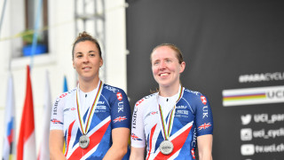 Lora Fachie and Corrine Hall add road race silver to their time trial silver won for the Great Britain Cycling Team at the UCI Para-cycling Road World Championships