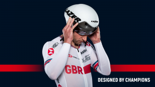 Jason Kenny wearing the new-look 2018 Great Britain Cycling Team kit made in conjunction with Kalas.