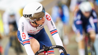 Laura Kenny at the Track World Cup in Canada, on her way to winning the Omnium.