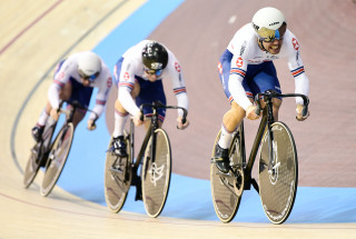 Men's Team Sprint at Berlin Track World Cup 2018.