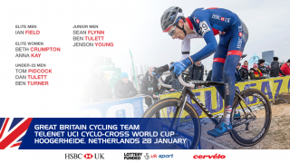Great Britain Cycling Team for the Telenet UCI Cyclo-cross World Cup in Hoogerheide