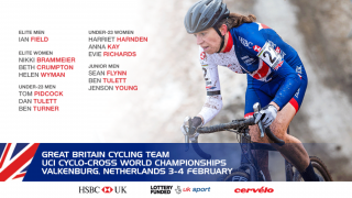 Great Britain Cycling Team for the UCI Cyclo-cross World Championships in Valkenburg
