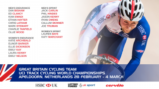 Great Britain Cycling Team for the UCI Track Cycling World Championships in Apeldoorn, Netherlands