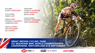 Great Britain Cycling Team for the UCI Mountain Bike World Championships in Lenzerheide, Switzerland