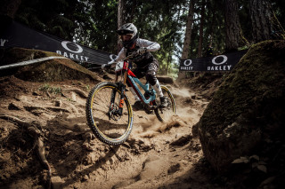 Laurie Greenland at the MTB World Cup in Slovenia 2019.