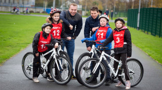 Sir Chris Hoy at Dane Bank Primary School