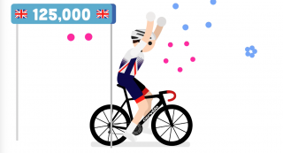 British Cycling's membership has surpassed 125,000 for the first time in the organisation's history