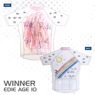 The winner of the KALAS design a jersey competition
