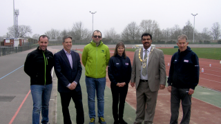 British Cycling helps to cut the ribbon at newly-refurbished Palmer Park Sports Stadium